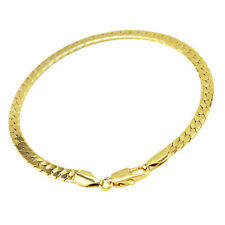 Luxury 4 mm width 18 k Gold Plated Unisex Bracelet for Men Women Jewellery BB127