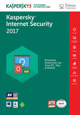 Kaspersky Internet Security 2017 5 PC / User / Devices / 1 Year