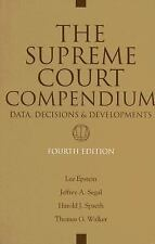 The Supreme Court Compendium: Data, Decisions, And Developments-ExLibrary