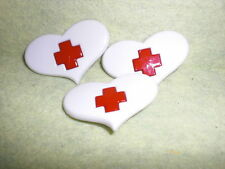 """Say """"Ahhh"""" RED CROSS HEART Novelty Theme Buttons - Dress It Up - All Crafts"""