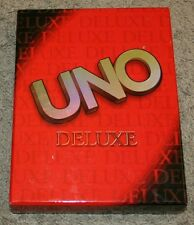 2001 UNO Deluxe Card game in a large book style box, complete and very nice