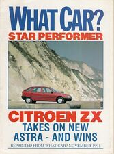 Citroen ZX 1.4 Avantage 1991-92 UK Market Road Test Brochure What Car?