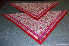 2 Brand New Heart Design Dog Bandanas For Dog Rescue Charity