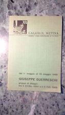 DISEGNI DI GIUSEPPE GUERRESCHI TRA 1964 1965 LIBRETTO OPUSCOLO GALLERIA MUTINA