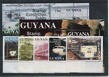 Guyana 3617/21 Block 135/36 postfrisch / Eisenbahn ........................1/681