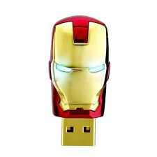 16GB ROSSO ORO SUPER MAN IRON MASK MEMORY STICK Novità USB Flash Drive
