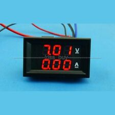 DC 100V/20A Ammeter Voltmeter RED+RED LED Digital Amp Volt Meter 12V 24V CAR