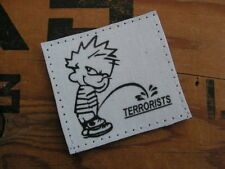 "Patch Velcro "" PISS ON TERRORISTS "" irak afghanistan M4 socom SEAL US pipi"