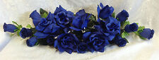 ROYAL BLUE SWAG ~ Light Navy  Silk Wedding Flowers Roses Arch Decor Centerpieces
