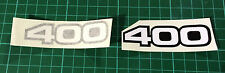 YAMAHA RD400, RD 400 DECALS C/Dx E and F SIDE PANEL DECALS