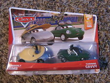 DISNEY PIXAR CARS 2 PACK SERIES RACE FANS KIMBERLY RIMS & CARINNE CAVVY