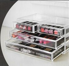Clear Acrylic Make up Drawer Organiser Cosmetic Box Storage Jewellery Case