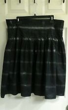 BCBG Maxazria, black & silver, women's size  10-12 skirt, pleated, knee length