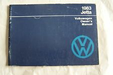 1983 vw jetta owners manual Parts Service original new