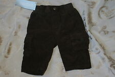 NWT Boys 3-6 M GYMBOREE Brown Corduroy Pants Cords w Pockets Cargo Style