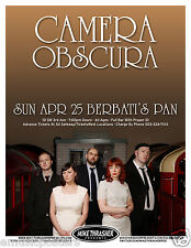 CAMERA OBSCURA 2010 PORTLAND CONCERT TOUR POSTER - Indie Pop Music