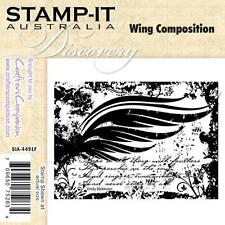 Stamp it Wing Composition EZ Mount rubber stamp shabby  steampunk