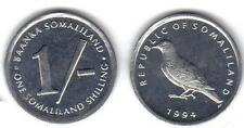 SOMALILAND: FIRST ISSUED COIN, 1 SHILLING UNCIRC. KM #1