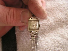 Vintage Hamilton Ladies Women's Watch 17 Jewels 750 14K Gold