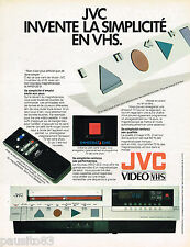 PUBLICITE ADVERTISING 055  1984  JVC  vidéo VHS   magnétoscope