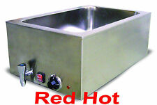 New Fma Omcan Merchandiser Food Soup, Chili And Cheese Warmer With Drain 19076