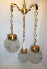 VINTAGE,TRIPLE, 3 LIGHT, HANGING SWAG LAMP, CHANDELIER, HOLLYWOOD, EAMES ERA
