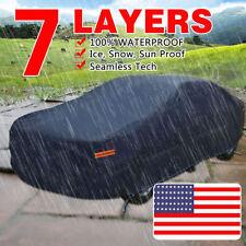 7 LAYERS PEVA Seamless Cotton Lining Outdoor Snow Sun Dust Rain Resist Car Cover