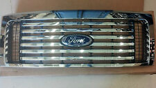 2009-2014 Ford F150 Billet Chrome Ford Accessory OEM grille with emblem