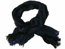 Neu 180x62cm SCHAL in schwarz-blau GESTREIFT UNISEX 100% VISKOSE CRASH HALSTUCH