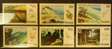 POLAND STAMPS MNH Fi2298-03 Sc2159-64 Mi2445-50 - National Parks, 1976, clean