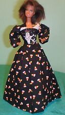 Trick-or-Treating Ghosts & Candy Corn Halloween Gown for Barbie Doll HH30