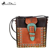 Montana West Hipster Handbag Crossbody Purse Western Bag Coffee
