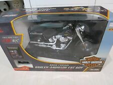 Terminator New Bright Harley Davidson black Fat Boy Motorcycle R/C action figure
