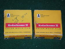 2 Vintage Kodak Kodachrome II Color MOVIE Film A Double 8mm Roll SEALED NOS
