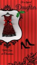 To A Special Daughter Luxury 3D Christmas Card Xmas Cards Special Relations