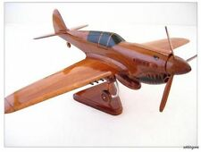 SALE ! CURTISS P-40 WARHAWK FLYING TIGERS WWII MAHOGANY WOOD MODEL AIRPLANE