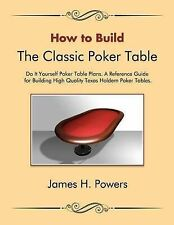 How to Build the Classic Poker Table Do It Yourself Poker Table Plans: A...