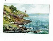 CORNISH POST CARD ART CARD BY E.W. TRICK. ST. ANTHONY LIGHTHOUSE.