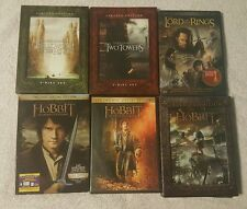 THE LORD OF THE RINGS 1,2 AND 3 TRILOGY AND THE HOBBIT 1,2 AND 3 TRILOGY ON DVD