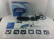 Sony PlayStation PS Vita PCH-1001 Handheld Black Video Game Console With Games