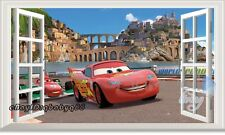 60x100cm Disney Cars McQueen 3D Window Wall Sticker Removable Kids Decals Art