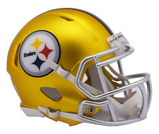 "PITTSBURGH STEELERS ""BLAZE"" NFL Riddell SPEED Full Size Replica Football Helmet"