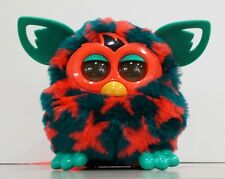 2012 Boom Furby, Dark Turquoise with Coral Stars, Excellent Condition