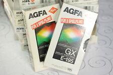 16 x Video Kassette VHS Leer E-195 AGFA GX = 6€/St.