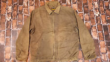 MENS  WRANGLER BROWN CANVAS JACKET WITH  LINING XL  VGC