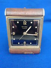 Vintage - Swiss CYMA AMIC - Travel - Alarm Clock Watch