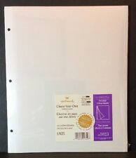 Hallmark AR1023 Self Adhesive Pages Large 3 Ring Album Refill 8 Pages Photo New