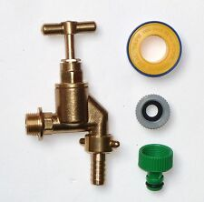 Heavy Duty 1/2 Inch Outside Tap With Garden Hose Fitting & PTFE Tape