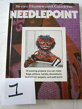 1978 Better Homes & Gardens Needlepoint Instruction Pattern Book Learn How To