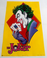LOT OF 3 THE JOKER POSTERS FROM 1989 DC COMICS, BATMAN VINTAGE AND RARE!
